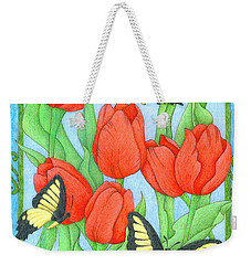 Butterfly Idyll-tulips Weekender Tote Bag