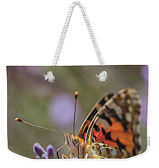 Weekender Tote Bag featuring the photograph Butterfly In Close Up by Patricia Hofmeester