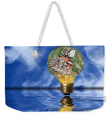 Butterfly In Lightbulb - Landscape Weekender Tote Bag