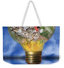 Butterfly In Lightbulb Weekender Tote Bag