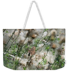 Butterfly In Puffy Seed Heads Weekender Tote Bag