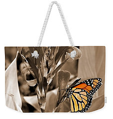 Butterfly In Sepia Weekender Tote Bag