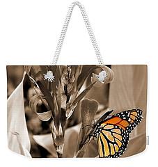 Butterfly In Sepia Weekender Tote Bag