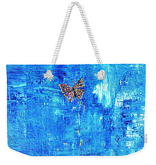 Butterfly In The Wind Weekender Tote Bag