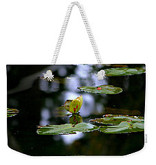 Butterfly Lily Pad Weekender Tote Bag