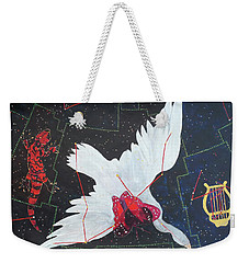 Weekender Tote Bag featuring the painting Butterfly Nebula by Denise Weaver Ross
