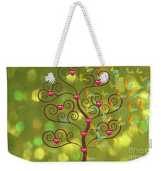 Butterfly Of Heart Tree Weekender Tote Bag by Kim Prowse