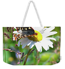 Butterfly On A Wild Daisy Weekender Tote Bag