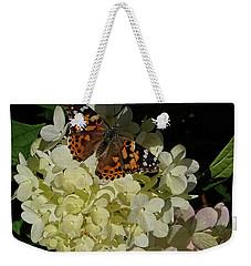 Butterfly On Hydrangea Weekender Tote Bag