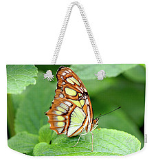 Butterfly On Leaf Weekender Tote Bag