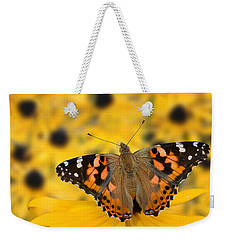 Butterfly On Rudbeckia Weekender Tote Bag