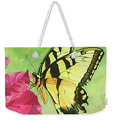 Butterfly On The Bougainvillea Weekender Tote Bag