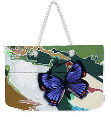 Butterfly Over Great Lakes Weekender Tote Bag