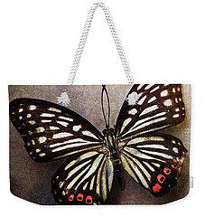 Butterfly Over Textured Background Weekender Tote Bag
