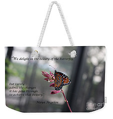 Butterfly Quote Art Print Weekender Tote Bag
