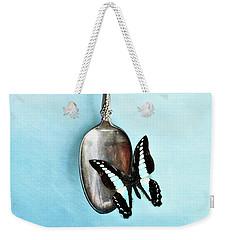 Butterfly Resting On Antique Spoon Weekender Tote Bag