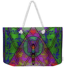 Butterfly Sacred Symbols #031 Weekender Tote Bag by Barbara Tristan
