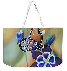 Weekender Tote Bag featuring the painting Butterfly Series#4 by Dianna Lewis