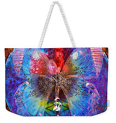 Butterfly Sisterly City Love Weekender Tote Bag by Joseph Mosley