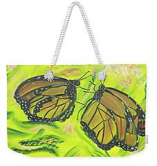 Butterfly Tango Weekender Tote Bag by Meryl Goudey