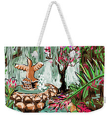 Weekender Tote Bag featuring the digital art Butterfly World by Jean Pacheco Ravinski