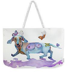 Butterfly Doxie Doo Weekender Tote Bag