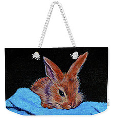 Butterscotch Bunny Weekender Tote Bag by Susan Duda