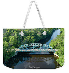 Weekender Tote Bag featuring the photograph Butts Bridge Summertime by Michael Hughes
