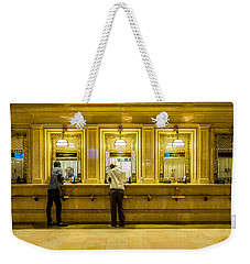 Weekender Tote Bag featuring the photograph Buying A Ticket by M G Whittingham
