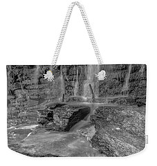 Bw Rock Wall Waterfall Weekender Tote Bag