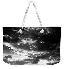 Weekender Tote Bag featuring the photograph Bw Sky by Eric Christopher Jackson