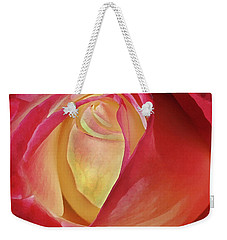 Weekender Tote Bag featuring the digital art By Any Other Name by Marie Leslie