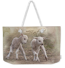 Weekender Tote Bag featuring the photograph By Faith by Robin-Lee Vieira