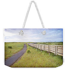 By The Boardwalk - Long Beach Washington Weekender Tote Bag by Maria Janicki