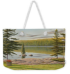 By The Lakeside Weekender Tote Bag