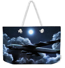 Weekender Tote Bag featuring the painting By The Light Of The Silvery Moon by Dave Luebbert