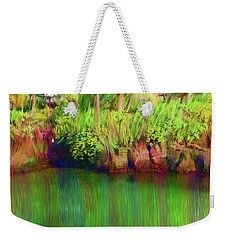 Weekender Tote Bag featuring the digital art By The Pond by Karen Nicholson