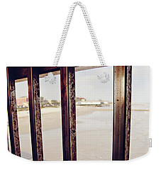 Weekender Tote Bag featuring the photograph By The Sea by Trish Mistric