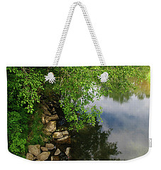 Weekender Tote Bag featuring the photograph By The Still Waters by Tikvah's Hope