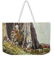 By The Stone Warrior Weekender Tote Bag