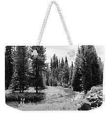 Weekender Tote Bag featuring the photograph By The Stream by Christin Brodie