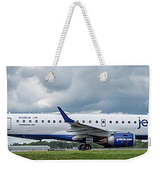 Weekender Tote Bag featuring the photograph Byo Blue by Guy Whiteley