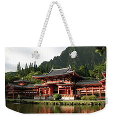 Weekender Tote Bag featuring the photograph Byodo-in Temple, Oahu, Hawaii by Mark Czerniec