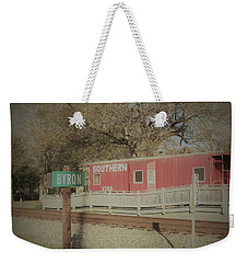 Weekender Tote Bag featuring the photograph Byron Town By The Tracks by Aaron Martens
