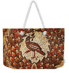 Byzantine Bird Weekender Tote Bag by Asok Mukhopadhyay