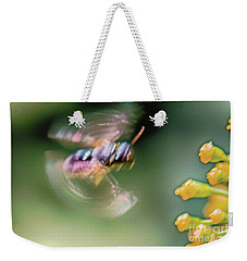Weekender Tote Bag featuring the photograph Bzzzzzzzz by Jivko Nakev