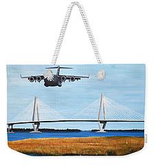 C-17 And Ravenel Bridge Weekender Tote Bag