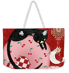 C Is For Cat, Cockatoo, And Coo Coo Clock Weekender Tote Bag