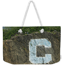 C Rock Of Columbia University Weekender Tote Bag by Jose Rojas