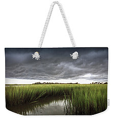 Weekender Tote Bag featuring the photograph Cabbage Inlet Cold Front by Phil Mancuso